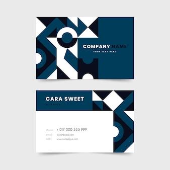 Абстрактный шаблон визитной карточки в классическом синем