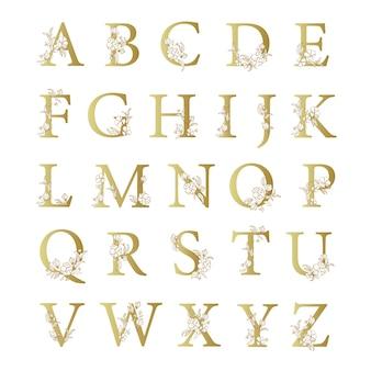 Алфавит с элегантными цветами