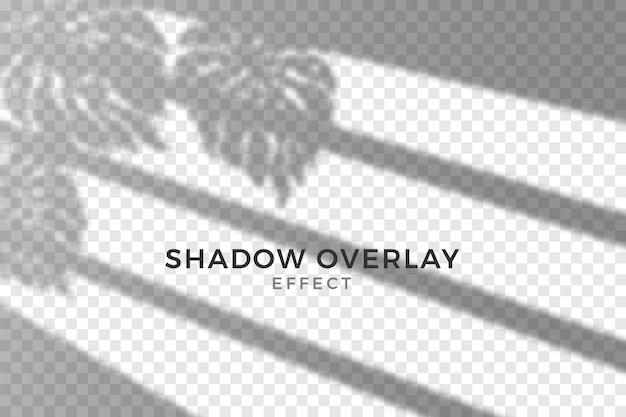 抽象的な透明な影のオーバーレイ効果