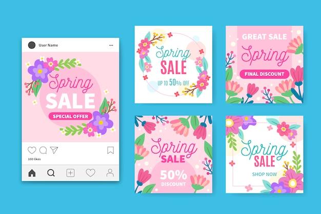 Весенняя распродажа инстаграм постов коллекция