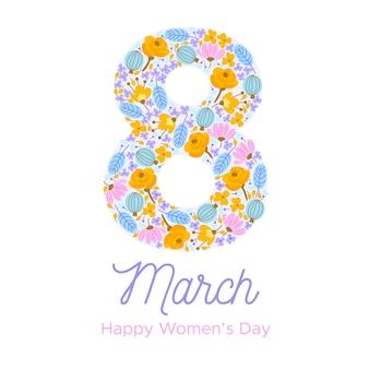 Цветочный дизайн для женского дня