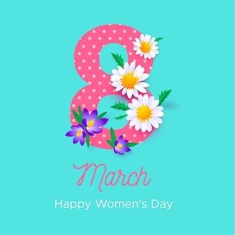 女性の日のイベントの花柄