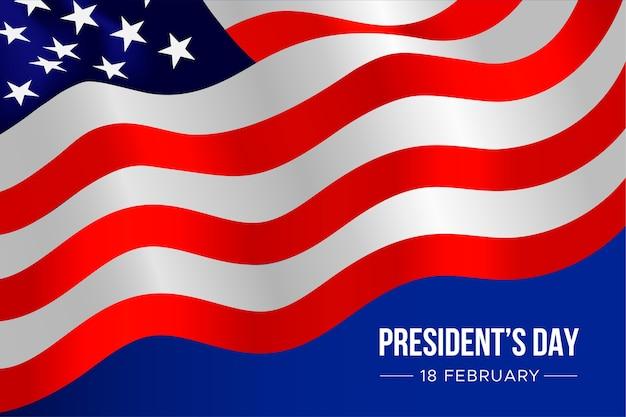 大統領の日のイベントのための現実的なフラット
