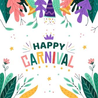 Рисованная тема для празднования карнавала