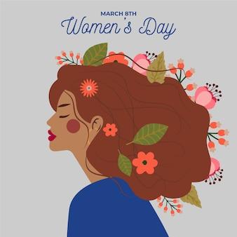 女性の日のイベントのお祝いの花柄