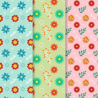 Концепция дизайна коллекции весна плоский дизайн