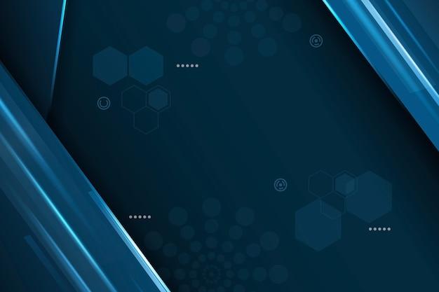 六角形と円の抽象的な未来的な背景
