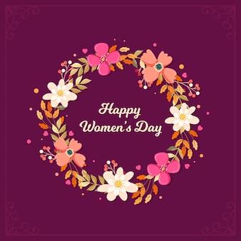 花の幸せな女性の日