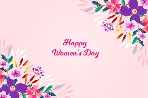 Счастливый женский день с цветами