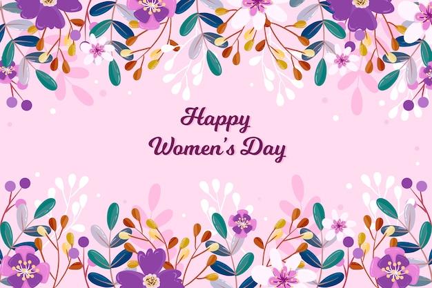 色とりどりの花で花の女性の日