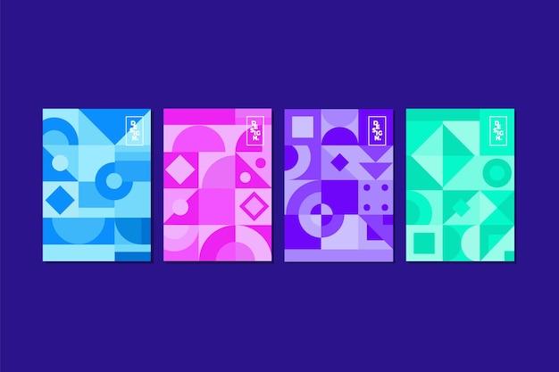 幾何学的な抽象的なカバーコレクション