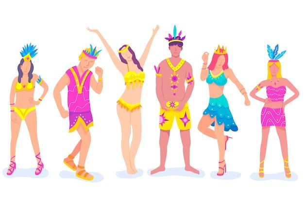 Набор бразильских карнавальных танцовщиц