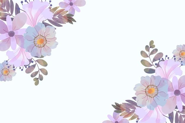 パステルカラーの水彩画の花の背景