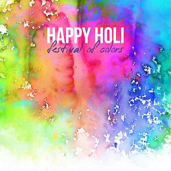 コピースペースと色のハッピーホーリー祭