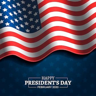 テキスト付きの大統領の日の旗