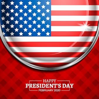 レタリングと大統領の日の旗