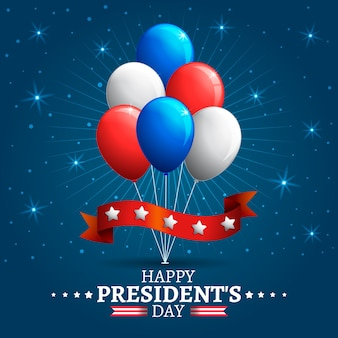 大統領の日のカラフルな風船