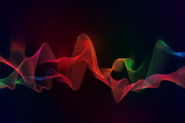 カラフルなイコライザー波の壁紙のテーマ