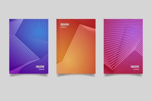 Дизайн коллекции полутоновых градиентных обложек