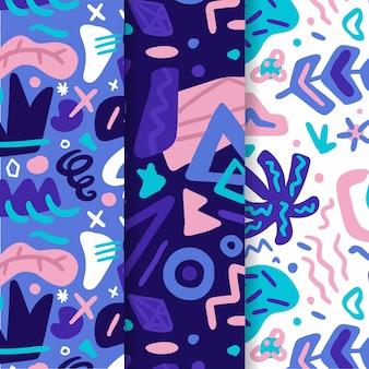 手描きの抽象的なパターンパック