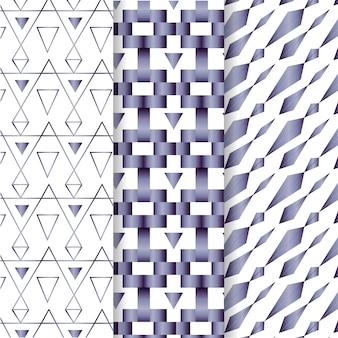 Коллекция геометрических узоров класса люкс