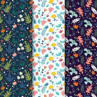 カラフルな葉春のシームレスなパターン