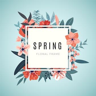 美しい春の花のフレーム