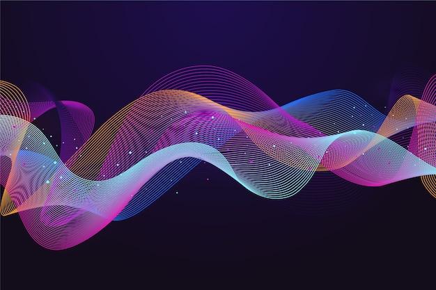 カラフルなイコライザー波背景