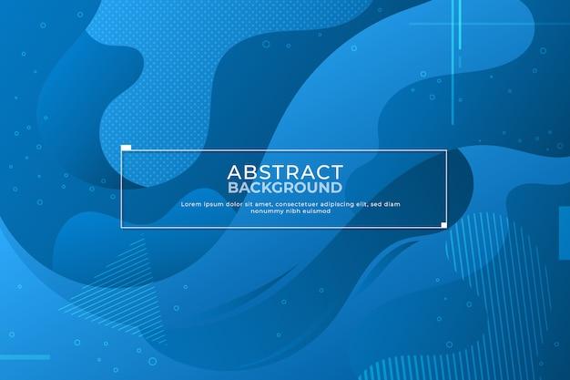 流体効果と抽象的な古典的な青い背景