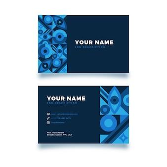 抽象的なビジネスアイデンティティカードテンプレート
