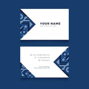 Абстрактные креативные визитки минималистичный дизайн