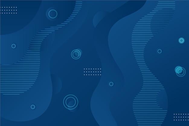 波状とドットと抽象的な古典的な青い背景