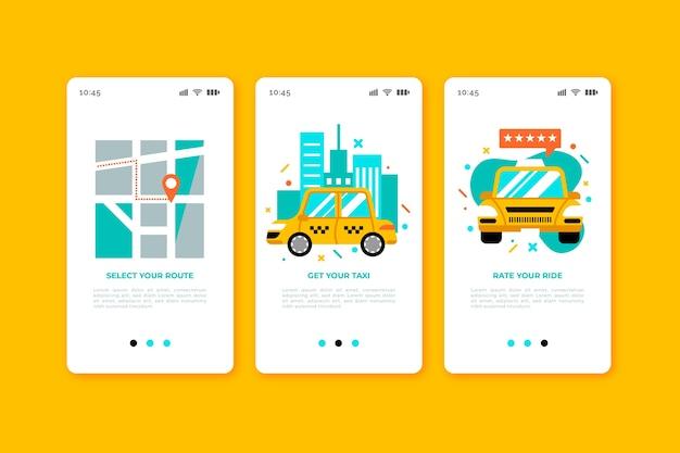 Такси сервис экранирования приложений экранов