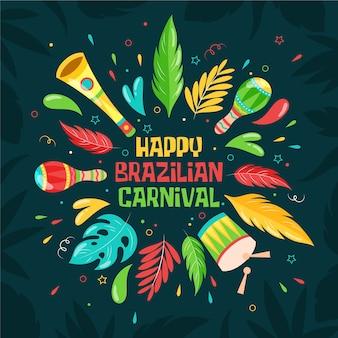 Ручной обращается бразильский карнавал концепции
