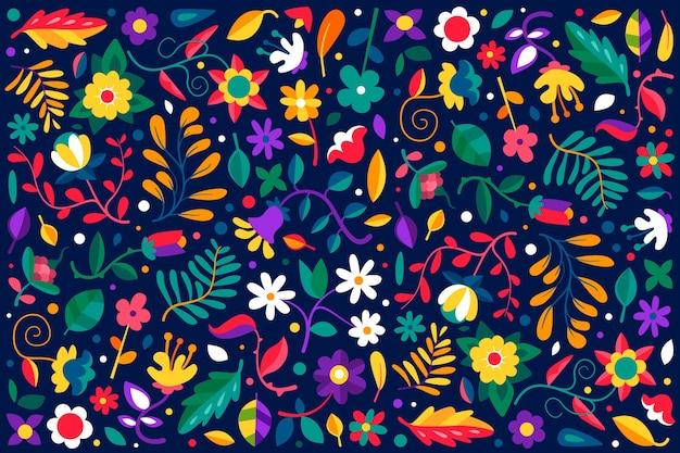カラフルなエキゾチックな花の背景