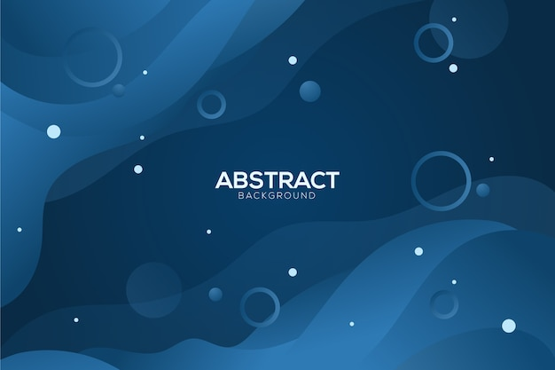 サークルと抽象的な古典的な青い背景