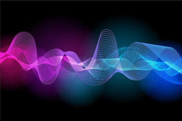 Красочный дизайн эквалайзера волны фон