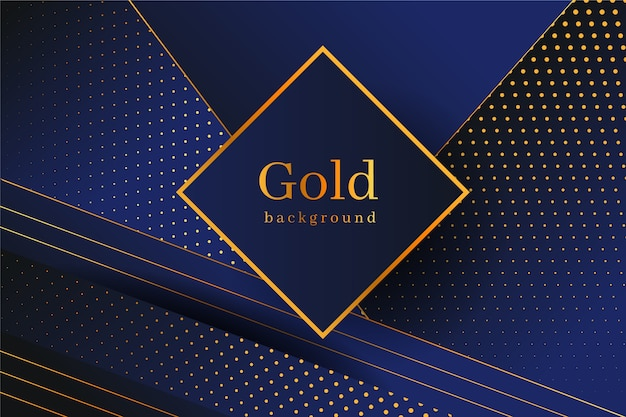黄金の詳細と暗い背景