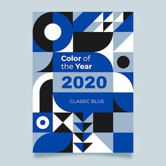 Шаблон плаката классические синие фигуры