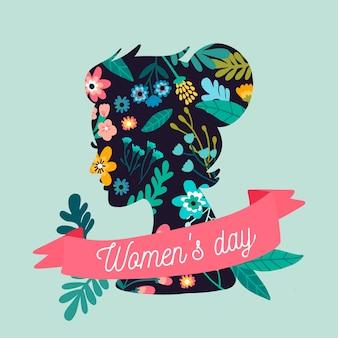 手描きの女性の日の素敵なイラスト