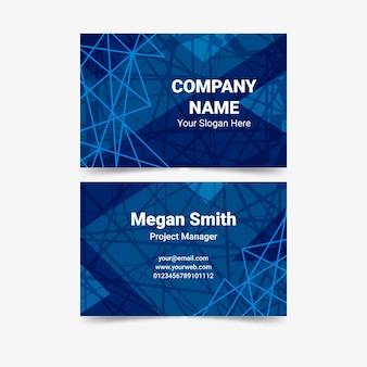 Цифровая паутина классическая синяя визитка