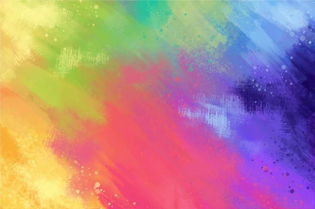 色とりどりのパレットで手描きの背景