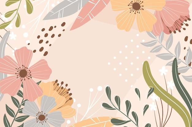 フラットなデザインで抽象的な花の背景