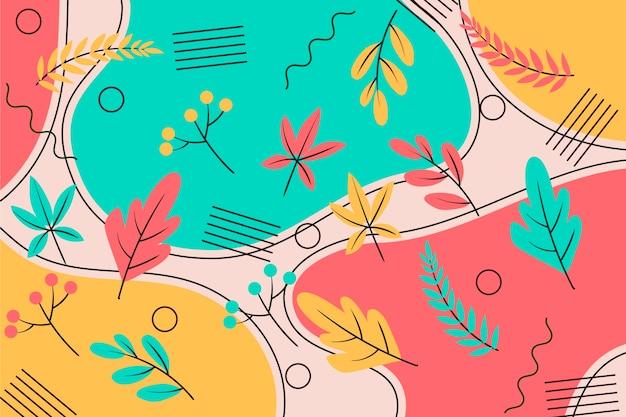 Абстрактный цветочный фон в плоском дизайне