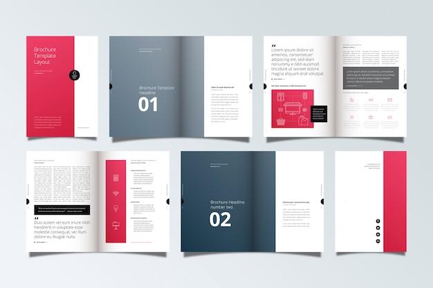 Макет шаблона брошюры
