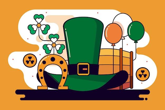聖パトリックの日フラットデザインのお祝いの日