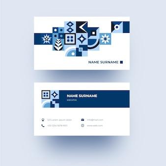 青い図形と近代的な会社のカード