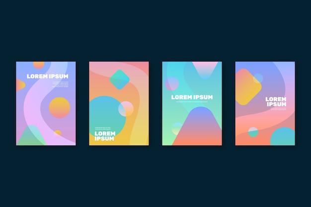 抽象的なグラデーション図形カバーコレクション