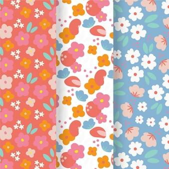 手描き春パターンコレクション