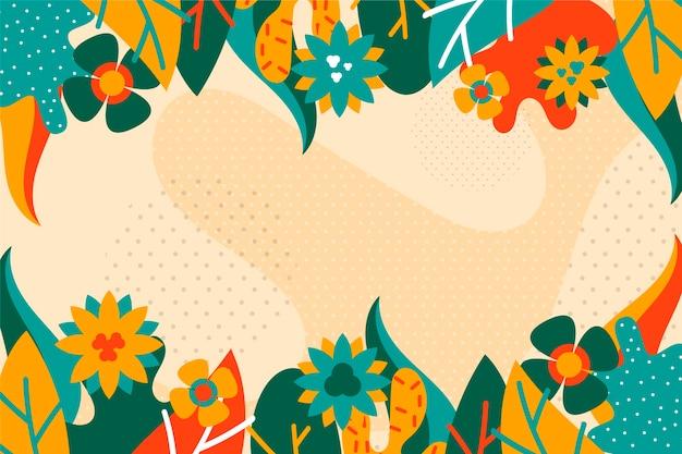 平らな抽象的な花の背景概念